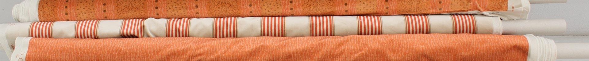 Printed velvet orange tones