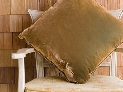 C&C Milano Green velvet cushion